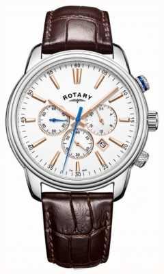 Rotary Herren Monaco Sport Chronograph weiß GS05083/06