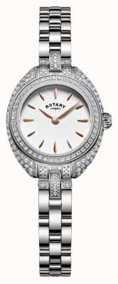 Rotary Womans petite Stein Set Armband Silber LB05087/02