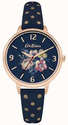 Cath Kidston Womans navy floral Tupfen CKL004URG