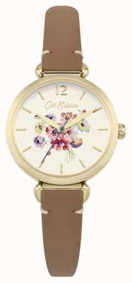 Cath Kidston Womans Blumen Zifferblatt braun CKL015TG