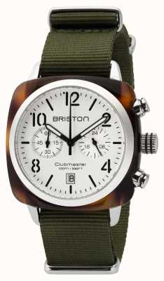 Briston Herren Clubmaster Classic Acetat Chrono Schildpatt weiß 16140.SA.T.2.NGA