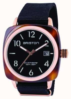 Briston Herren Clubmaster Classic Acetat schwarz 13240.PRA.T.1.NB