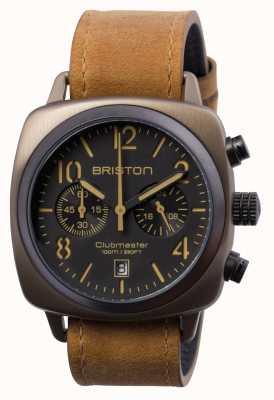 Briston Klassischer Chrono Khaki Mens Clubmaster 15140.SPK.C.5.LVBR