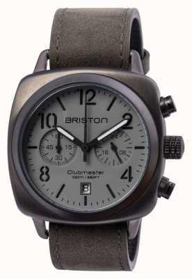 Briston Mens Clubmaster klassischer Stahl chrono gun 15140.SPG.C.12.LVB