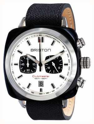 Briston Mens Clubmaster-Sport-Acetat Chrono schwarz 15142.SA.BS.2.LSB