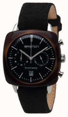 Briston Mens Clubmaster Vintage Acetat chrono Schildpatt schwarz 16140.SA.TV.1.LFB