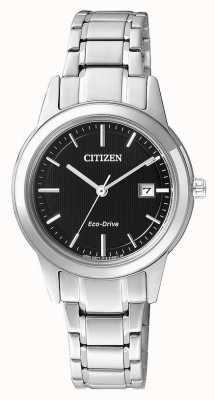 Citizen Damen Bürger Silhouette Eco-Drive-Uhr aus Edelstahl FE1081-59E
