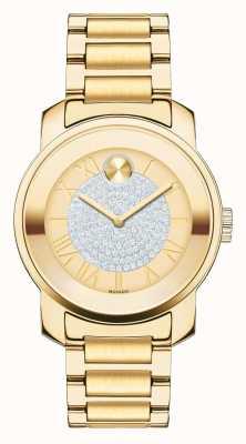 Movado Bold midsize luxe Gelbgold ionenplattiert k1 Kristall-Set 3600255