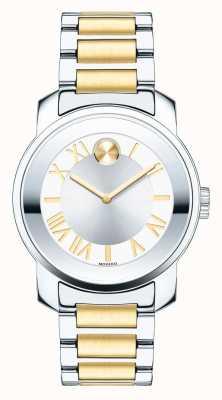 Movado Bold Midsize Damen luxe zwei Ton k1 Kristall 3600245
