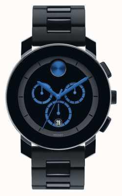 Movado Bold große Chronograph schwarz tr90 Verbund 3600101
