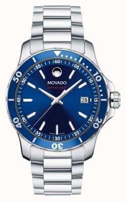 Movado Herren-Serie 800-Uhr Performance Stahl Aluminium Sport 2600137