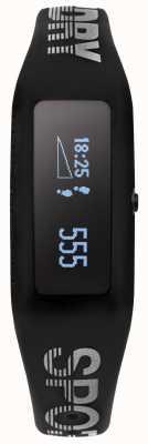 Superdry Unisex Fitness Tracker schwarz Silikonarmband SYG202B