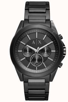 Armani Exchange Herren schwarzer Eisen-Stahl AX2601