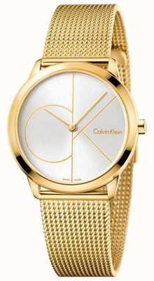 Calvin Klein Womans minimal gold getönten Mesh K3M22526