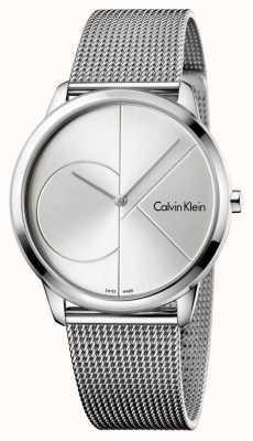Calvin Klein Mens minimal Silber Stahl Mesh Strap K3M2112Z