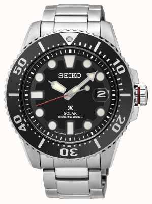 Seiko | prospex | Solar | Taucher | Metallarmband | schwarzes Zifferblatt | sne551p1 SNE437P1