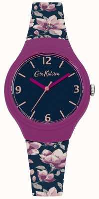 Cath Kidston Womans Marine floral bedruckte Silikonband CKL028UP