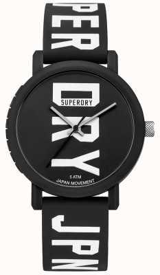 Superdry Mens Campus Fluro Block Silikon Uhr schwarz SYG196BBW