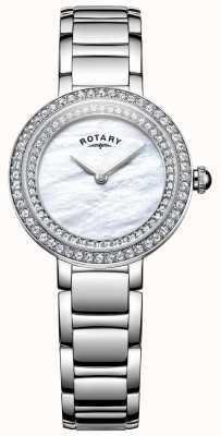 Rotary Womans Stein gemeißelt Cocktail Uhr LB05085/41L