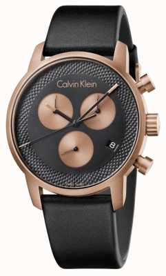 Calvin Klein Herrenstadt Chronograph blaues Zifferblatt schwarz Ex-Display K2G17TC1 Ex-Display