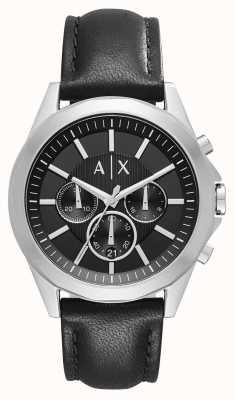 Armani Exchange Herren Leder schwarz Chronograph AX2604
