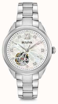 Bulova Frauen automatische Diamant Uhr 96P181