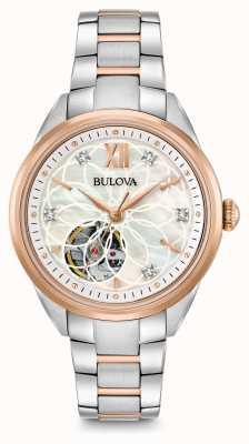 Bulova Frauen automatische Diamant Uhr 98P170