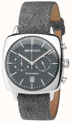 Briston Mens Clubmaster Vintage grau Gewebeband Zifferblatt grau 17140.PS.V.17.LFG