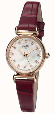 Limit Womens Mutter der Perle Stein Set Zifferblatt Uhr 60043.01