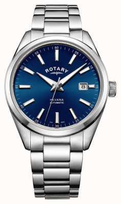 Rotary Mens havanna Edelstahl blau GB05077/05