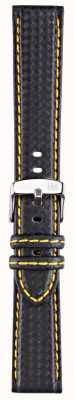 Morellato Strap only - Bike Techno schwarz / gelb 20mm A01U3586977897CR20