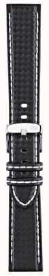 Morellato Strap only - Biken Techno schwarz / weiß 18mm A01U3586977817CR18
