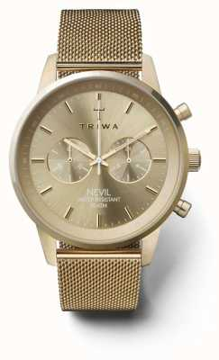 Triwa Womans Nevil Chronograph Gold Ton Mesh NEST104:2-ME021313
