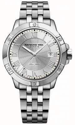 Raymond Weil Mens Tango Stahl Silber 8160-ST-00658