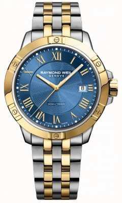 Raymond Weil Herren Tango Uhr | Edelstahlarmband | tiefblaues Zifferblatt | 8160-STP-00508