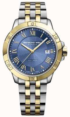 Raymond Weil Herren Tango Uhr   Edelstahlarmband   tiefblaues Zifferblatt   8160-STP-00508