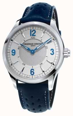 Frederique Constant Herren horologisches smartwatch bluetooth blaues Lederband FC-282X5B6