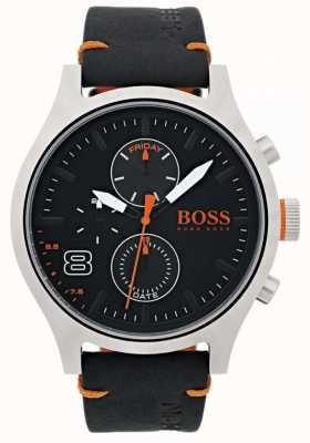 Hugo Boss Orange Herren amsterdam schwarzes Leder 1550020