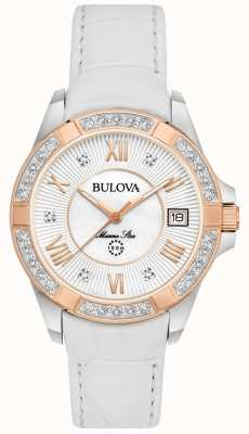 Bulova Womans Marine Star Diamond weiß 98R233