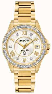 Bulova Womans Marine Star Goldton 98R235