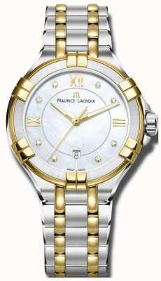 Maurice Lacroix Womans Aikon Quarz zwei Ton Armband AI1004-PVY13-171-1