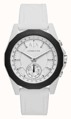 Armani Exchange Verbundene, intelligente Uhr weißer Silikonriemen AXT1000