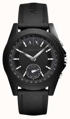 Armani Exchange Verbundene smart watch black silicone strap AXT1001