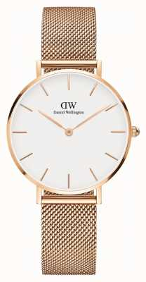 Daniel Wellington Womans klassische Melrose Petite Rose Gold Mesh DW00100163