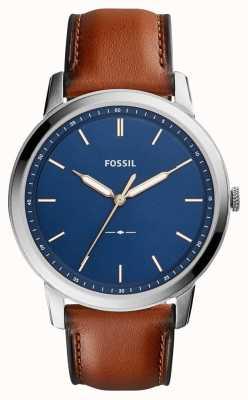 Fossil Mens minimalistischen braunen Leder FS5304