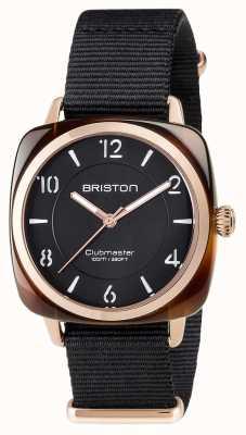 Briston Unisex Clubmaster Chic schwarz Acetat pvd Roségold 17536.PRA.T.1.NB