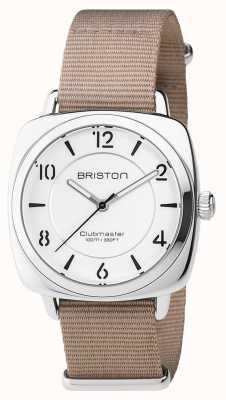 Briston Unisex Clubmaster schick beige Stahl mit NATO-Band 17536.S.L.2.NT