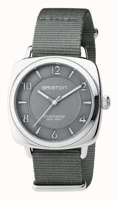 Briston Unisex Clubmaster chic grauer Stahl mit Nato-Gurt 17536.S.L.17.NG