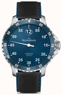 MeisterSinger Herren klassisch plus salthora meta x automatisch blau SAMX908