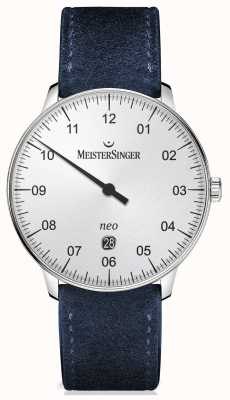 MeisterSinger Mens Form und Stil automatische Silber NE401